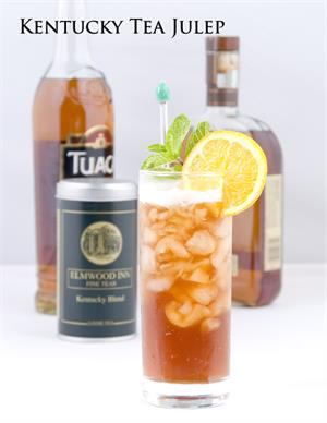 Kentucky Tea Julep Cocktail with Bourbon