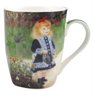 Renoir Girl with a Watering Can Tea Mug with Infuser and Lid