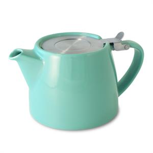Stump Teapot with Stainless Lid & Infuser 18 oz. - Turquoise
