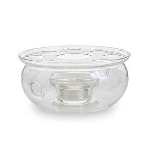 Small Glass Teapot Warmer with Candle