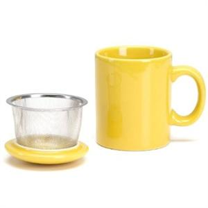 Infuser Mug with Lid - 11 oz Yellow