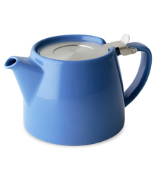 Stump Teapot with Stainless Lid & Infuser 18 oz. - Blue