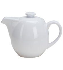 24 oz Teapot with Infuser - White