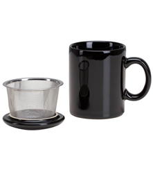 Infuser Mug with Lid - 11 oz Black