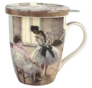 Degas Dance Lesson Tea Mug w/ Infuser and Lid
