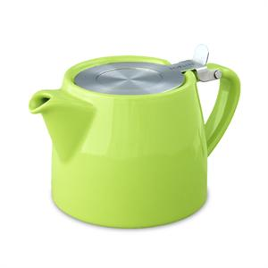 Stump Teapot with Stainless Lid & Infuser 18 oz. - Citron