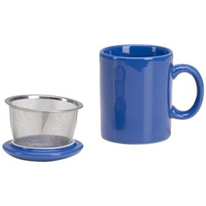Infuser Mug with Lid - 11 oz Blue