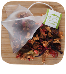 Strawberry-Kiwi Fruit Infusion Pyramid Sachets