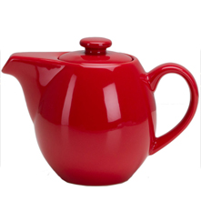 24 oz Teapot with Infuser - Red