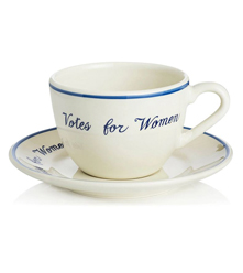 Votes for women teacup and saucer