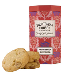 Shortbread House of Edinburgh Cookies - Hazelnut & White Chocolate
