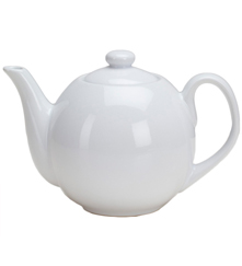 40 oz Teapot with Infuser - White