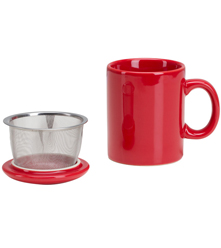 Infuser Mug with Lid - 11 oz Red