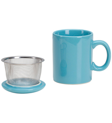 Infuser Mug with Lid - 11 oz Turquoise