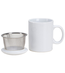 Infuser Mug with Lid - 11 oz White